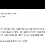 The malicious email that was sent to VSU email users.