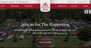 New VSU Homepage