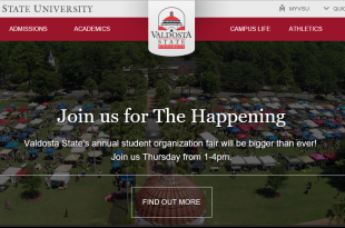 New VSU Homepage