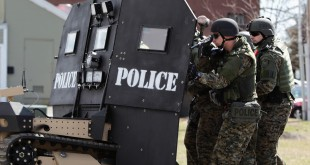 """""""Peace Officer"""" addresses the increasingly militarized state of American police forces. (Photo courtesy Peace Officer LLC/TNS)"""