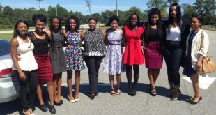 DWE member from left to right: Daneesha Edwards, president Taranesha Wright, Nina Singleton, Kierra Lindsey, Alexis Outlaw, Sedrice Young, Ariel Roddy, Kimberly Taylor, Gabrielle King and Elesha Cole.