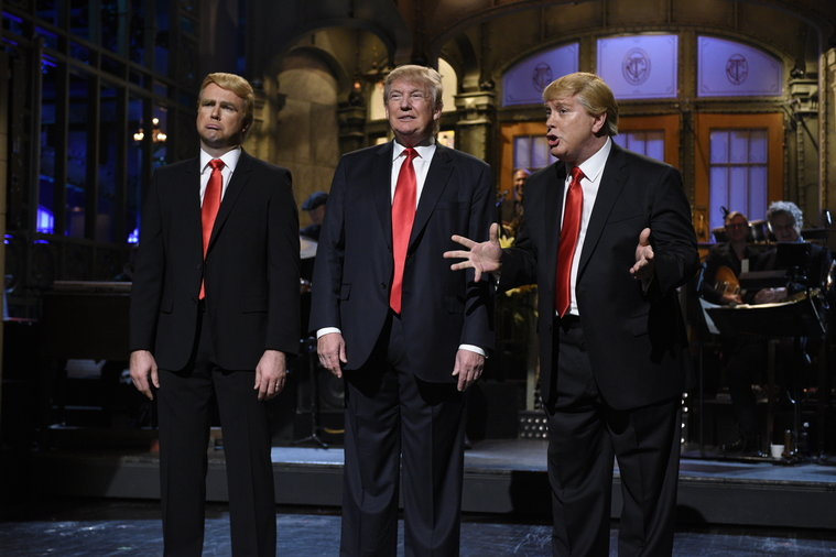 """Republican presidential candidate Donald Trump hosted on """"Saturday Night Live"""" on Nov. 7. (Photo Courtesy: Dana Edelson/NBC.com)"""