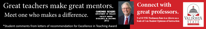 Great teachers make great mentors! Meet one here who makes a difference!  Gardner Rogers, Dept of English.  Connect with Great Professors at VSYou