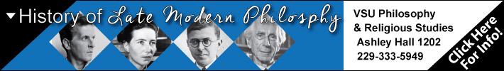 VSU Philosophy & Religion's History of Late Modern Philosophy Offered Fall 2016
