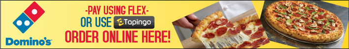 Domino's Delivers Hot & Fresh - Click Here to order online & use your Flex $$!