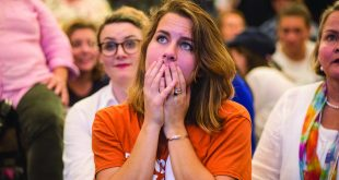 Voter watches in suspense at the results of the election are slowly released. (Photo Credit: MCT Campus)