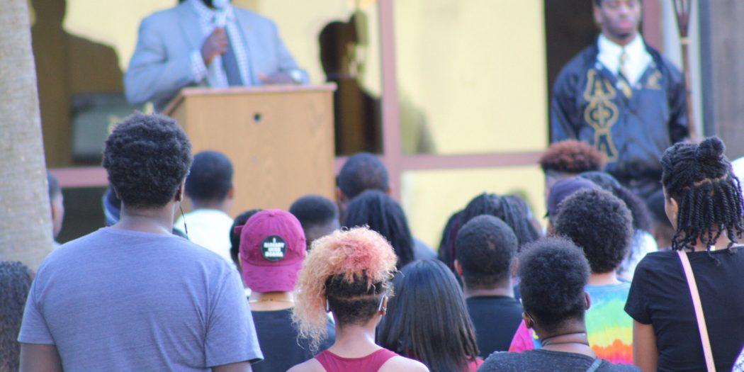 Keynote Speaker Dr. Adrian Rivers. Photo by Juston Lewis