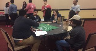 Students enjoying the games at RHA's Condom Casino event. Photo taken by Alex Dunn.