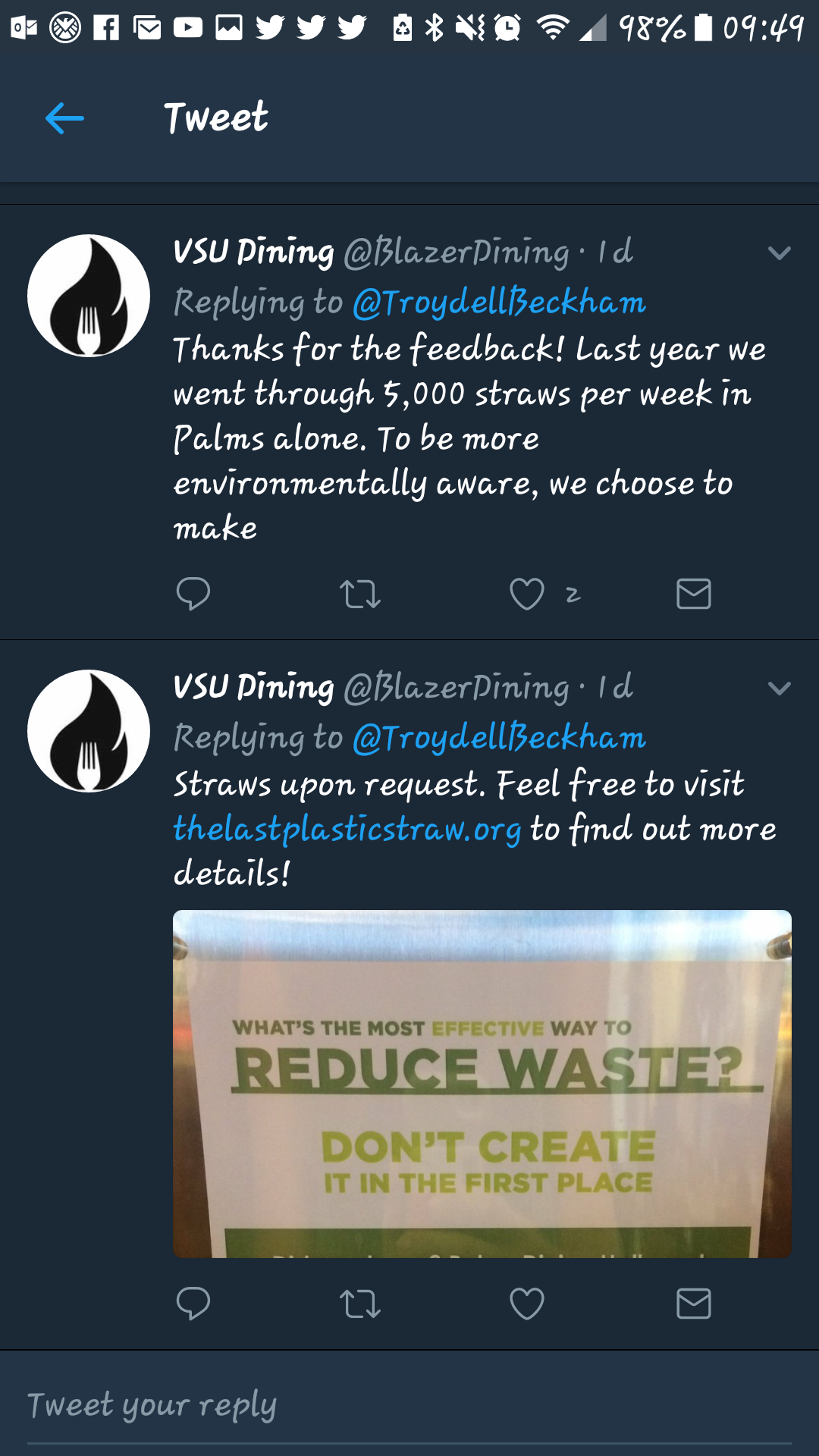 @BlazerDining's response
