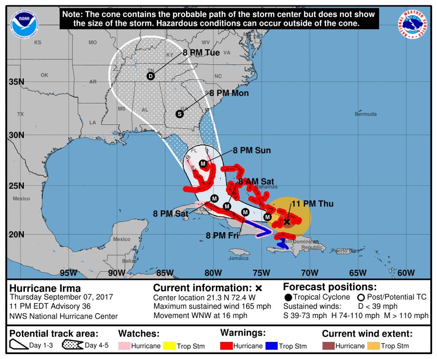 Hurricane Irma weather update