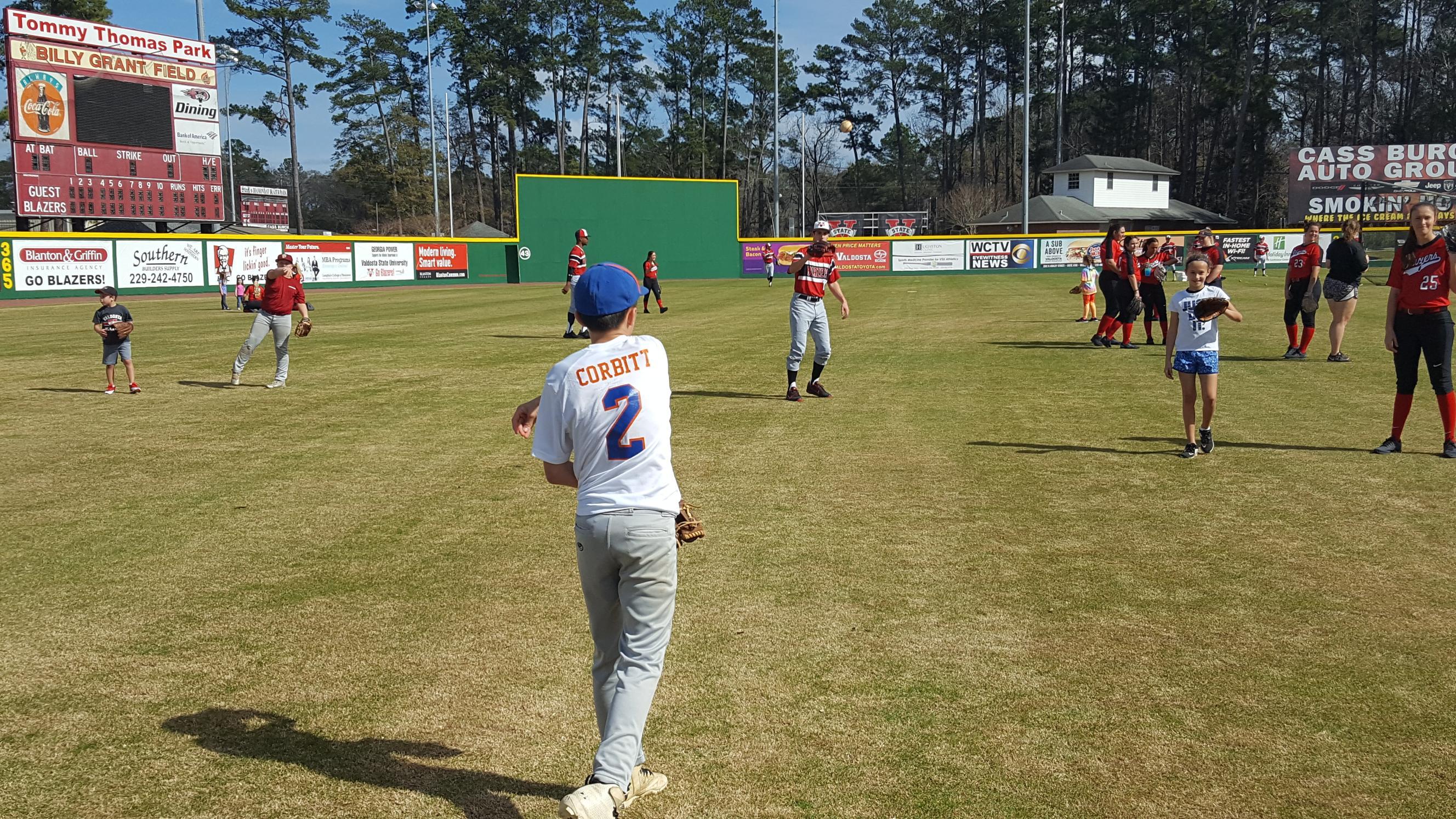 corbitt playing catch