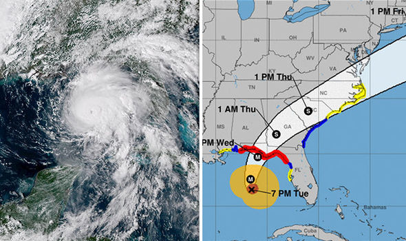 hurricane michael storms through valdosta